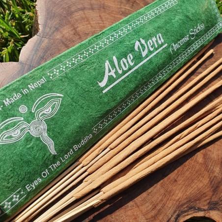 Aloe Vera - Encens à l'aloe vera en bâtonnets roulés à la main - Encens népalais