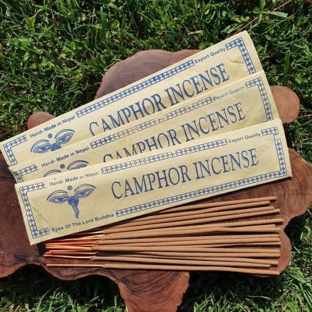 Camphor - Encens de camphre en bâtonnets roulés à la main au Népal - Encens népalais