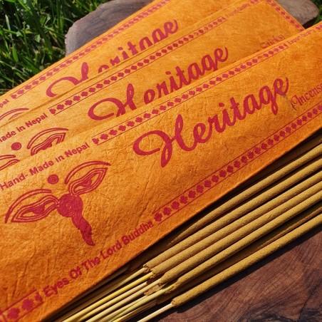 Heritage - 15 bâtonnets d'encens népalais roulés à la main - Encens népalais