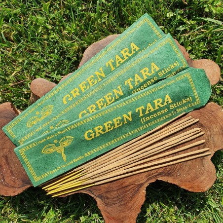 Green tara - 10 bâtonnets d'encens népalais roulés à la main - Encens népalais