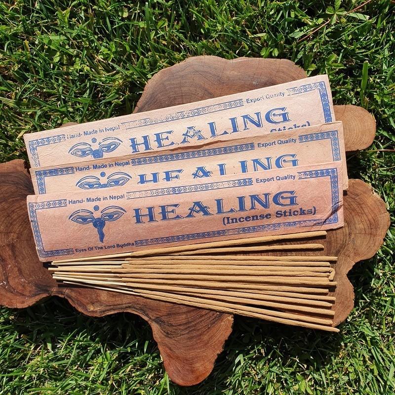 Healing - 15 bâtonnets d'encens népalais roulés à la main
