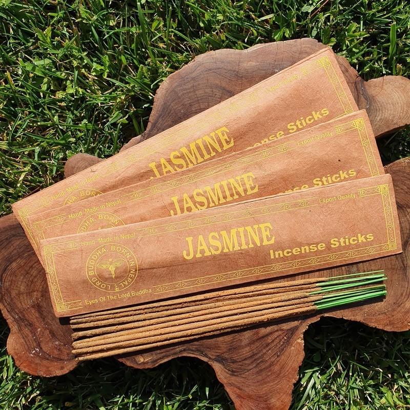 Jasmine - Encens de jasmin népalais en bâtonnets roulés à la main