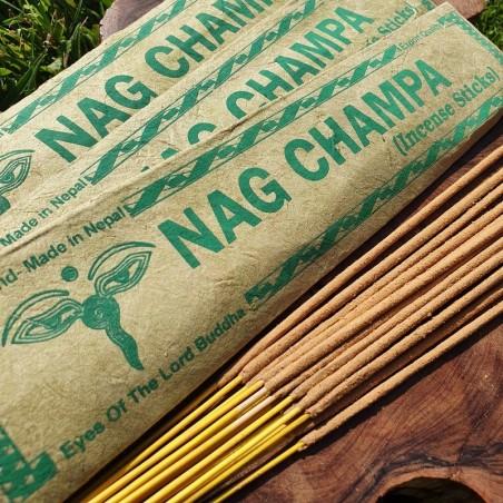 Nag Champa - 15 bâtonnets d'encens roulés à la main au Népal - Encens népalais