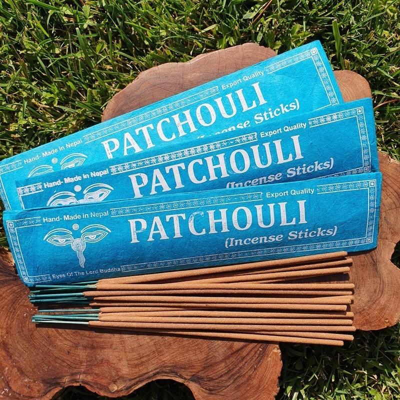Patchouli - Encens de patchouli en bâtonnets roulés à la main au Népal