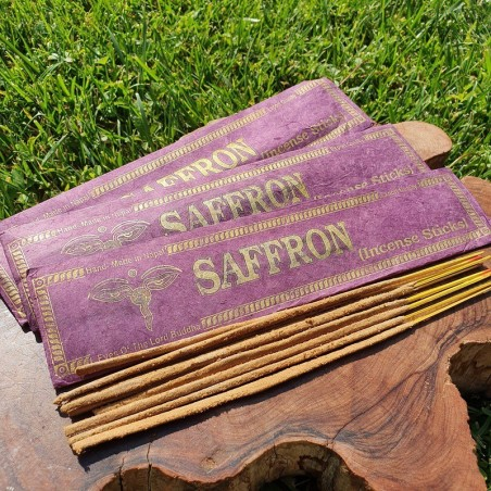 Saffron - Encens au safran en bâtonnets roulés à la main - Encens népalais