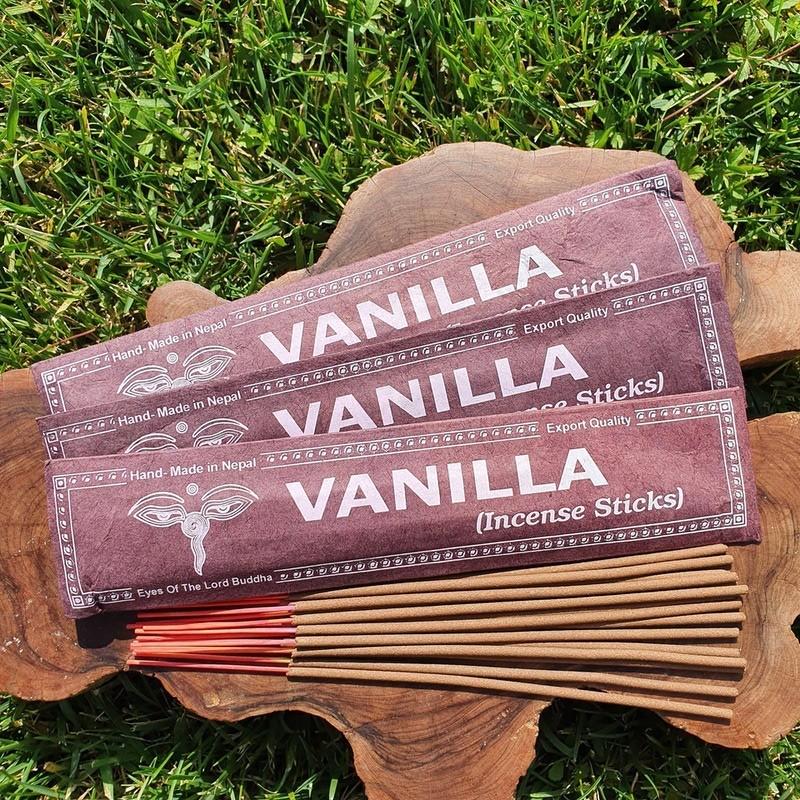 Vanilla - Encens vanille en bâtonnets roulés à la main au Népal