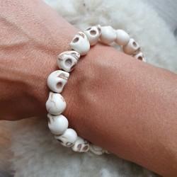 Bracelet de perles en os...