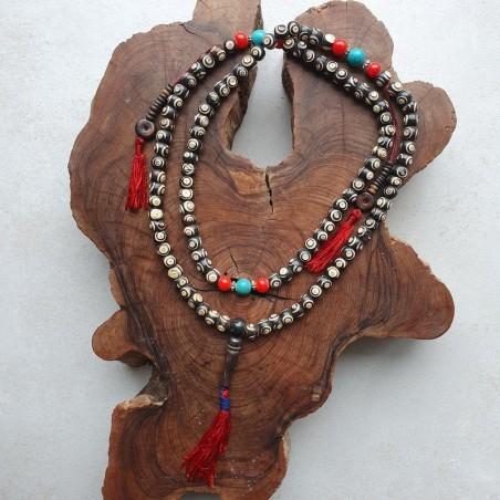 "Collier ""Baguwa pani"" - Colliers malas tibétains"
