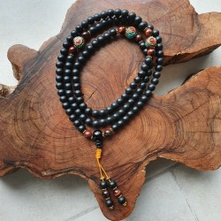 Collier mala tibétain en...