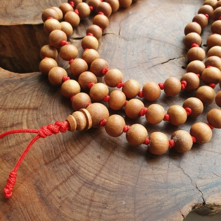108 HehiFRlark Bois de Santal 6mm 108 Perles de pri/ère bouddhistes Bracelet en Bois Multicouche MalaRed6mm