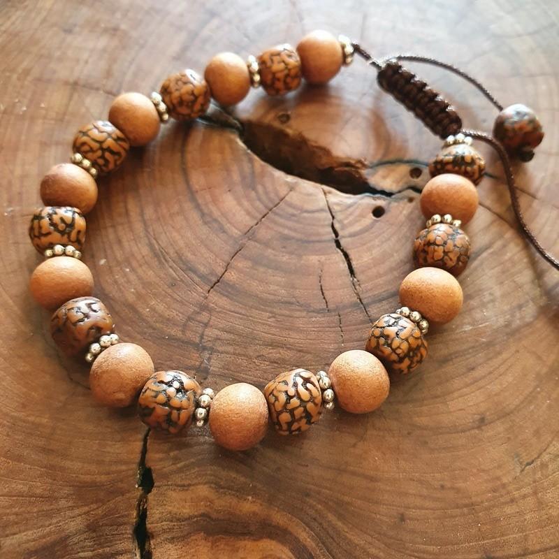 Bracelet bois de santal et rudraksha