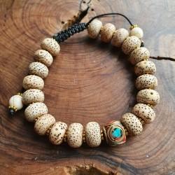 Bracelet graine de lotus