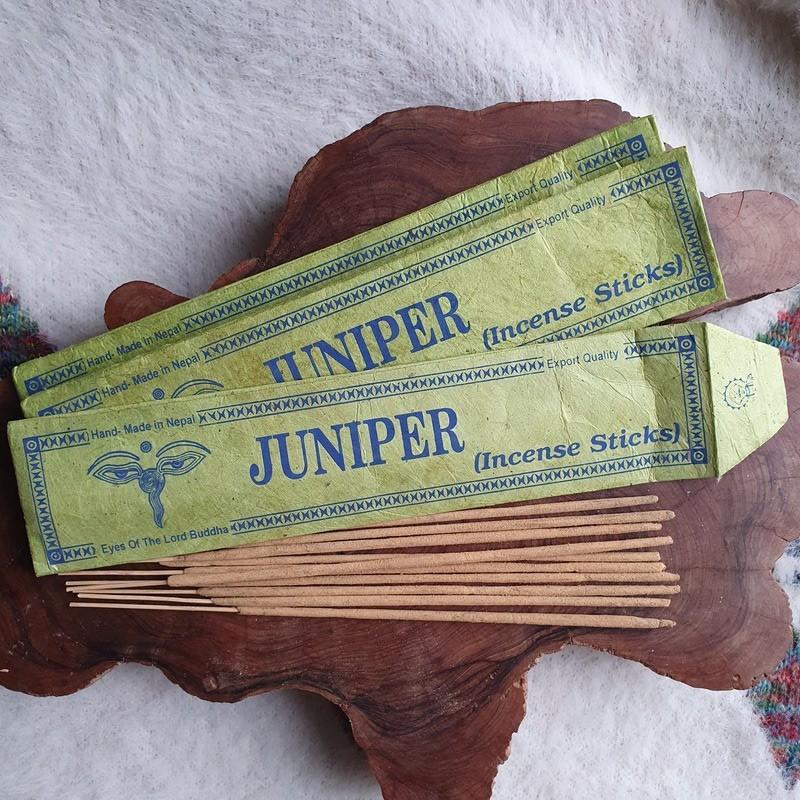 Juniper - Encens de genévrier en bâtonnets roulés à la main au Népal