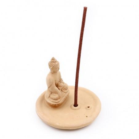 Porte encens Bouddha en terre cuite - Porte encens