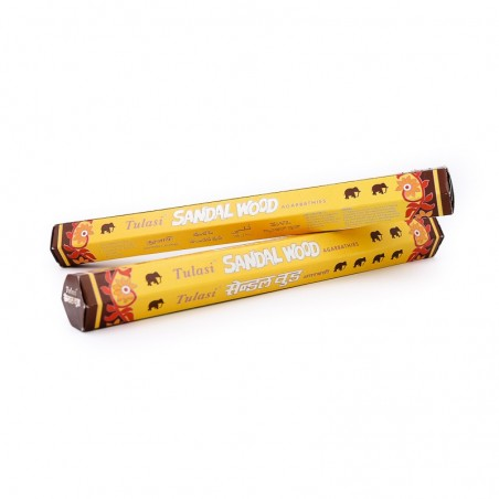 Sandal wood tulasi en bâtonnets - Encens indien - Encens indien