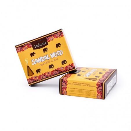 Sandal wood tulasi en cônes - Encens indien - Encens indien