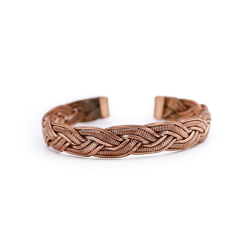 Bracelet tibétain en cuivre entrelacé