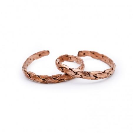 Bracelet tibétain en cuivre tressé - Bracelets tibétains bouddhistes