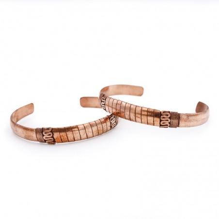 Bracelet tibétain serpent en cuivre - Bracelets tibétains