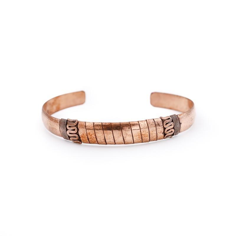 Bracelet tibétain serpent en cuivre