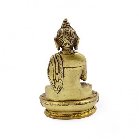 Statue Bouddha assis en laiton - mudra Dharmachakra - Statues bouddhistes