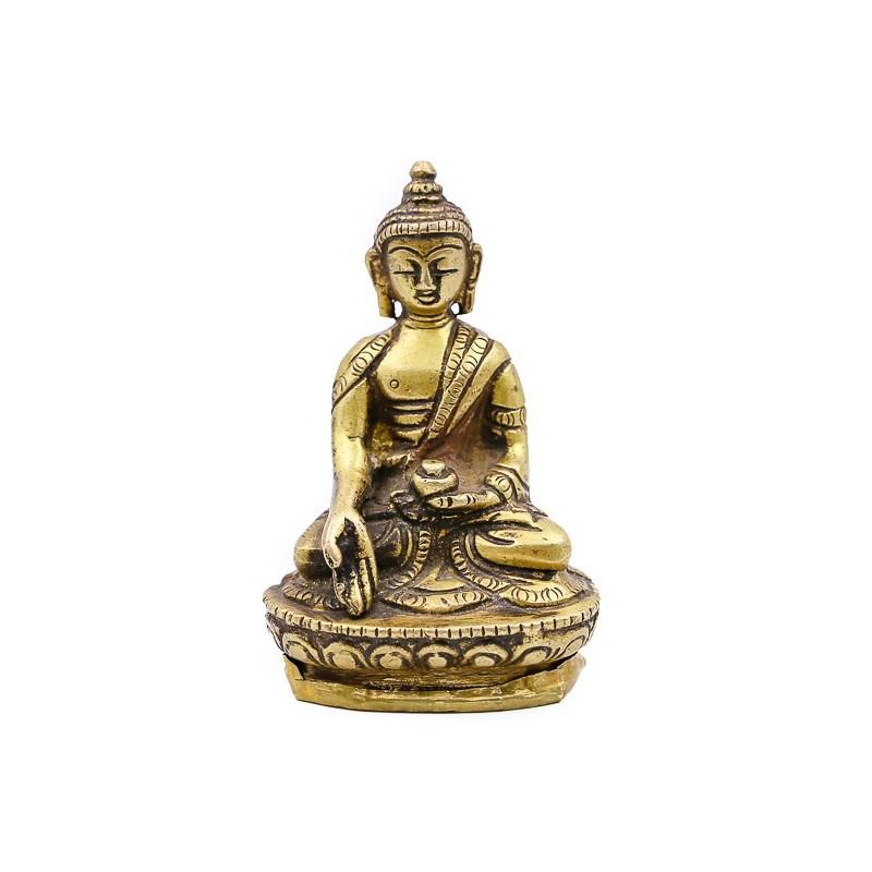 Statuette bouddha assis en laiton - mudra Varada