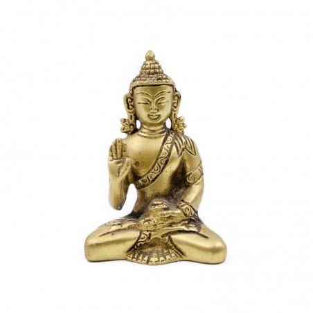 Statuette bouddha assis en laiton - mudra Abhaya - Statues bouddhistes