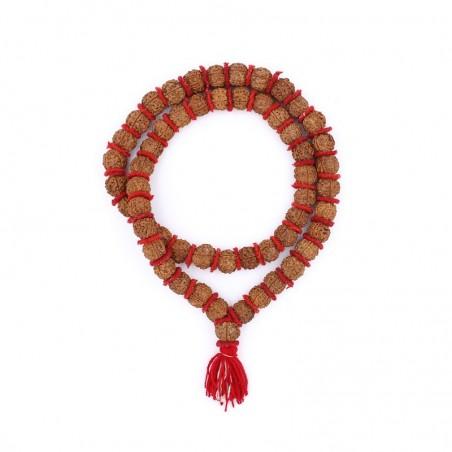 Mala hindou - chapelet hindouiste en grosses graines de rudraksha - Colliers malas tibétains