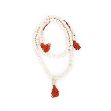 Collier mala tibétain en perles d'os de buffle - Colliers malas tibétains