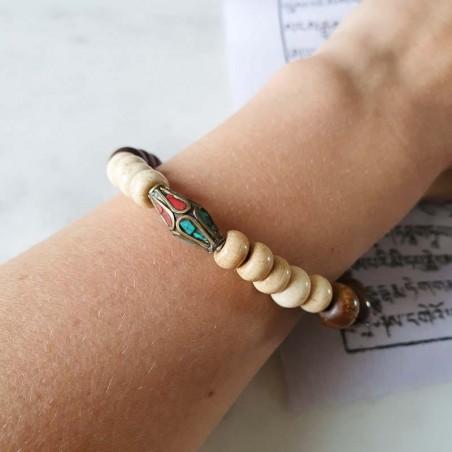"""Bracelet """"Bahu rangina"""" - Bracelets malas tibétains"""
