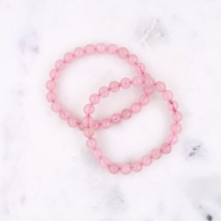 Bracelet quartz rose - Bracelets en pierres naturelles