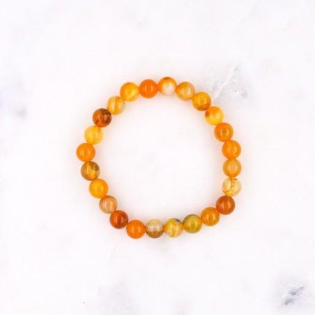 Bracelet agate jaune - Bracelets en pierres naturelles