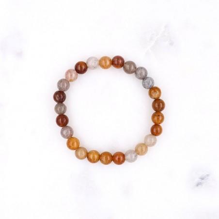 Bracelet agate multicolore - Bracelets en pierres naturelles