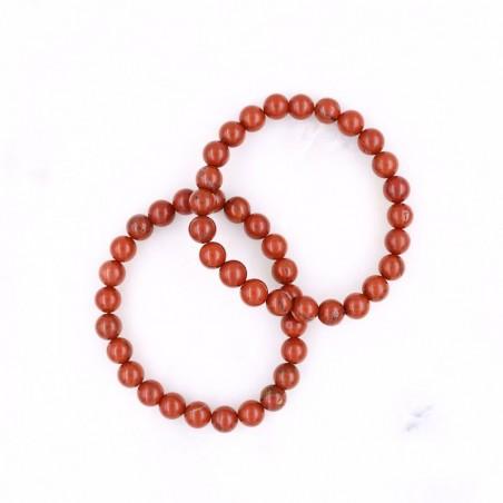 Bracelet jaspe rouge - Bracelets en pierres naturelles