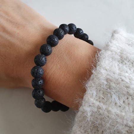 Bracelet pierre de lave - Bracelets en pierres naturelles