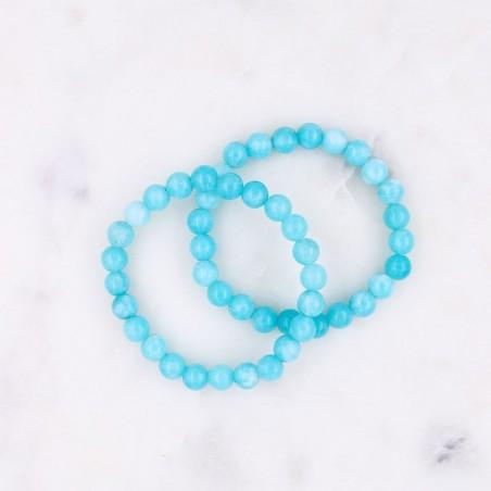 Bracelet amazonite bleu ciel - Bracelets en pierres naturelles