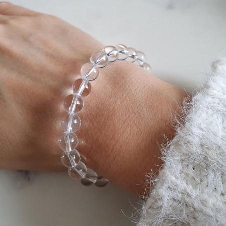 Bracelet cristal de roche - Bracelets pierres naturelles