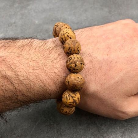 Bracelet mala tibétain en graines de bodhi indiennes - Bracelets malas tibétains