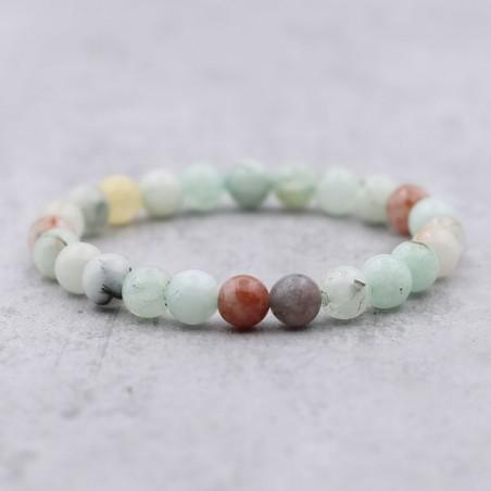 Bracelet amazonite multicolore - Bracelets en pierres naturelles