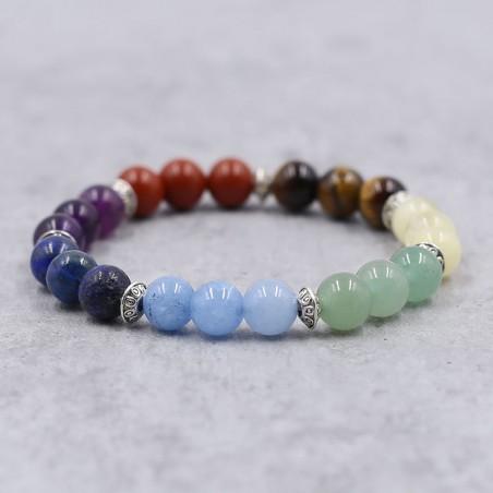 Bracelet 7 chakras premium - Bracelets en pierres naturelles