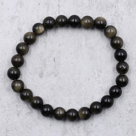 Bracelet obsidienne noire - Bracelets en pierres naturelles