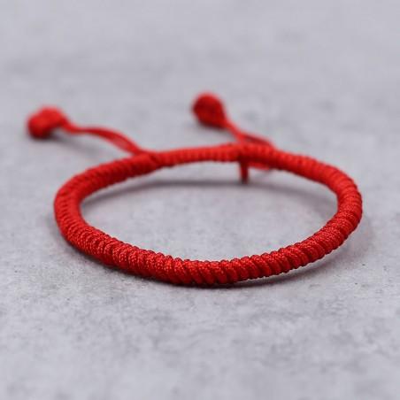 Bracelet tibétain rouge porte-bonheur - Bracelets tibétains