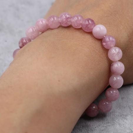 Bracelet tourmaline rose - Bracelets en pierres naturelles
