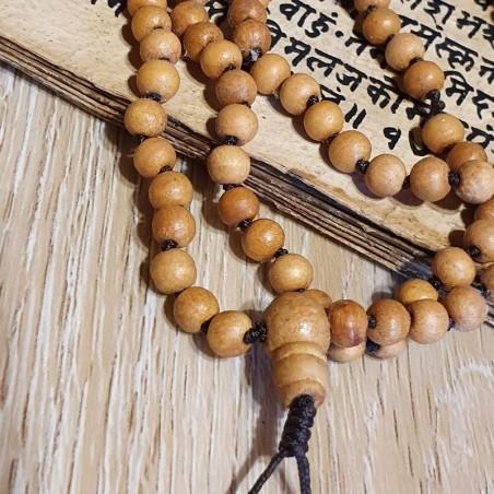 Collier mala tibétain 108 perles en bois - Colliers malas tibétains