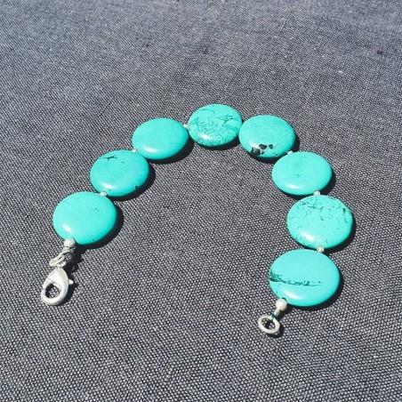 Bracelet tibétain Firoza Golo - Bracelets tibétains en turquoise et corail