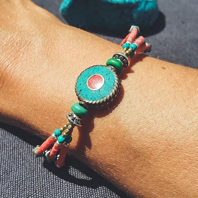 "Bracelet tibétain ""Roue céleste"""