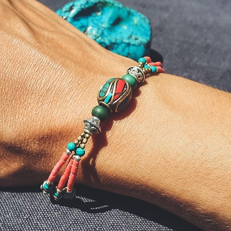 "Bracelet tibétain ""Rato bead"""
