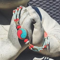 "Bracelet tibétain ""Ying yang"""