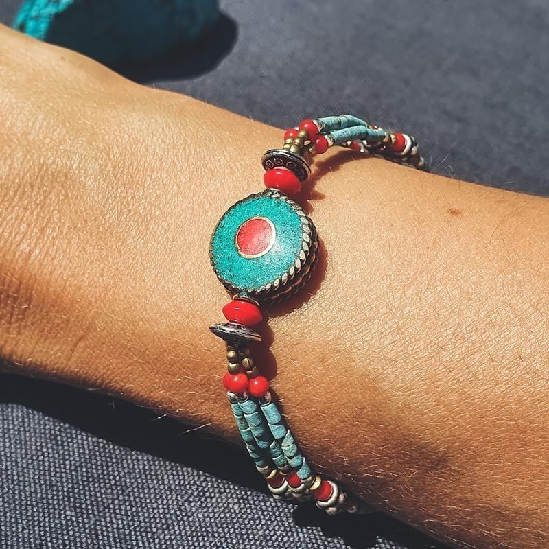 "Bracelet tibétain ""Ramro somjana"""